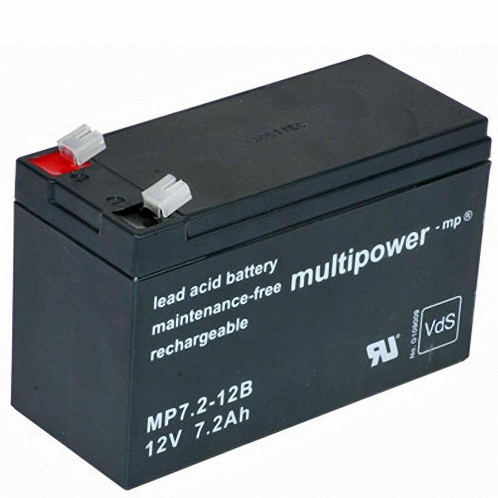 Batterie Multipower MP 7.2-12B 12V 7.2Ah AGM Akku