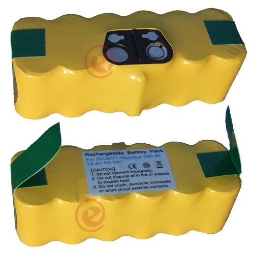 BATTERIA per iRobot Roomba 500 510 530 540 550 560 570 580 r3 serie 14,4v 4500 mAh